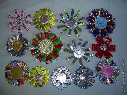 Поделки из оберток от конфет на новый год