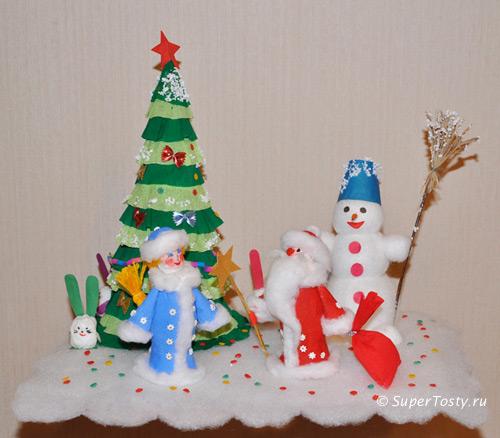 Поделки для нового года своими руками в детском саду