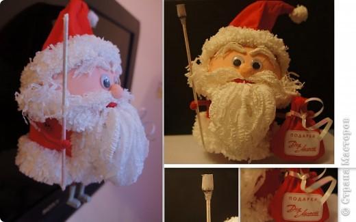 Новогодние игрушки дед мороз на елку своими