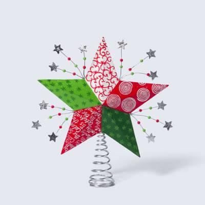 Новогодняя игрушка звезда на ёлку